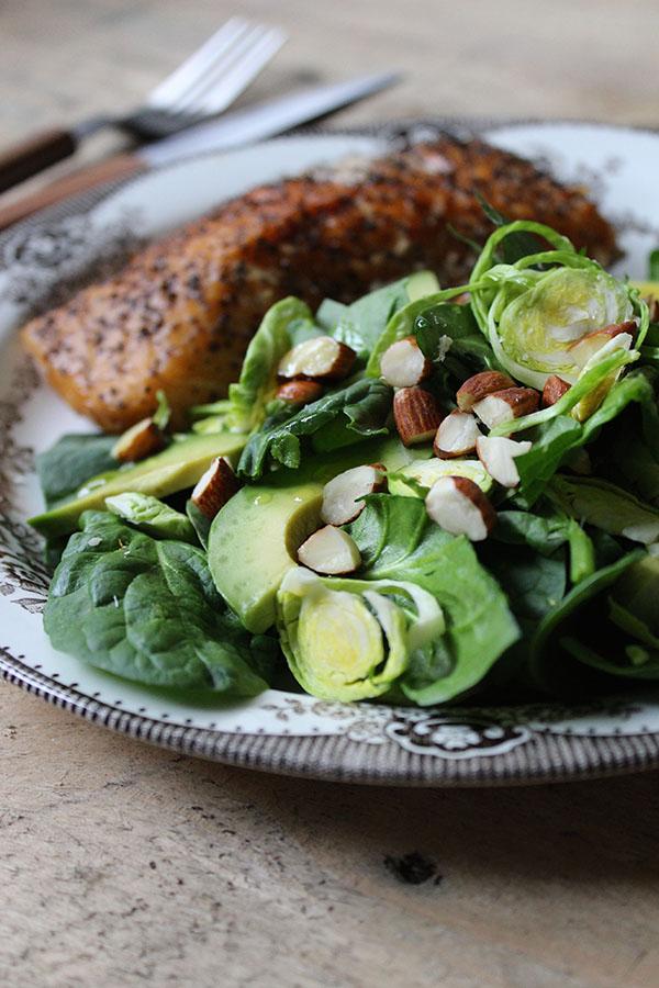 Salat med rosenkål