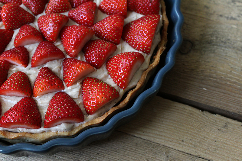 Lækker jordbærtærte