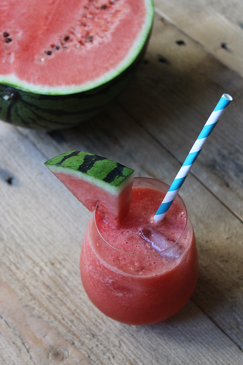 Fruit shake with watermelon